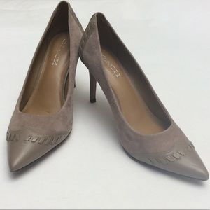 Coach Taupe Suede and Leather heels